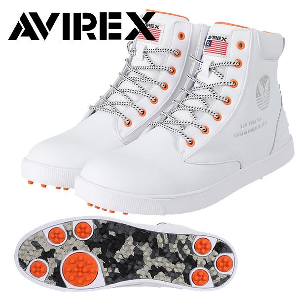 割り引き AVIREX アヴィレックス 2021年春夏モデル 安心の定価販売 メンズ アビレックス ゴルフシューズ ハイカット 靴紐 夏 20FW-ACN20 21 スパイクレス ゴルフウエア 春