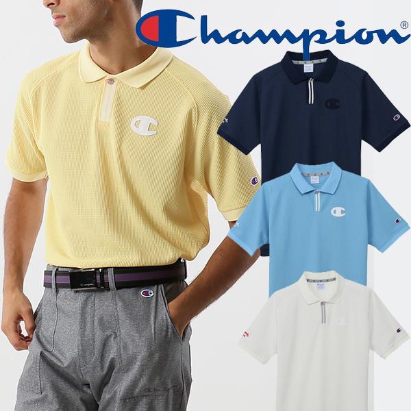 30%OFF チャンピオン 店内全品対象 ゴルフ 2021年春夏モデル メンズ 半袖ポロシャツ 21 春 夏 Champion ゴルフウエア C3-TG309 大注目