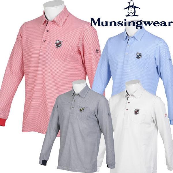 ※お取り寄せになります マンシング ゴルフウエア 春 夏 50%OFF マンシングウェア Munsingwear メンズ 春夏モデル 卸直営 希望者のみラッピング無料 ミニボーダー長袖シャツ 20 MGMPJB02