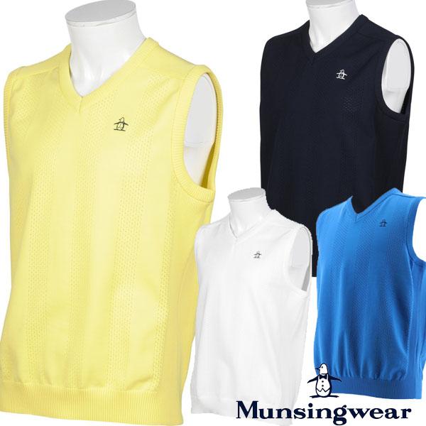 ※お取り寄せになります マンシング ゴルフウエア 春 夏 50%OFF マンシングウェア 春夏モデル 20 MGMPJL81 お求めやすく価格改定 Munsingwear E-AIRニットベスト メンズ 大好評です