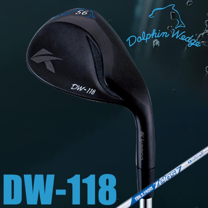 【女性用】kasco キャスコ ウェッジ DOLPHIN WEDGE DW-118 BLACK LADIES' ドルフィンウェッジ DW-118 ブラック レディース ストレートネック ウェッジ N.S.PRO ZELOS7 スチールシャフト【18】ゴルフクラブ
