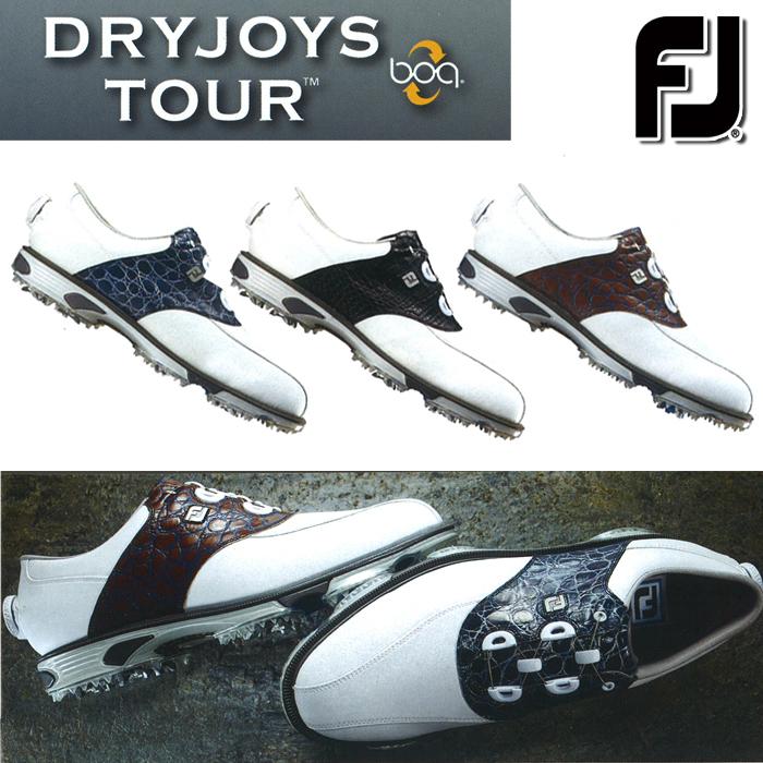 SALE セール FOOTJOY-フットジョイ- DRYJOYS TOUR BOA ドライジョイズツアーボア (メンズ) スパイク ゴルフシューズ【足幅:W(EE)タイプ】【カタログ商品】