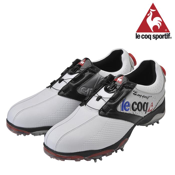 【40%OFF】【残り、24.5cm、25cm限りです!】ルコック-le coq- (メンズ) ワイヤーロックシステム ゴルフシューズ【18】【靴・シューズ】スパイクシューズ
