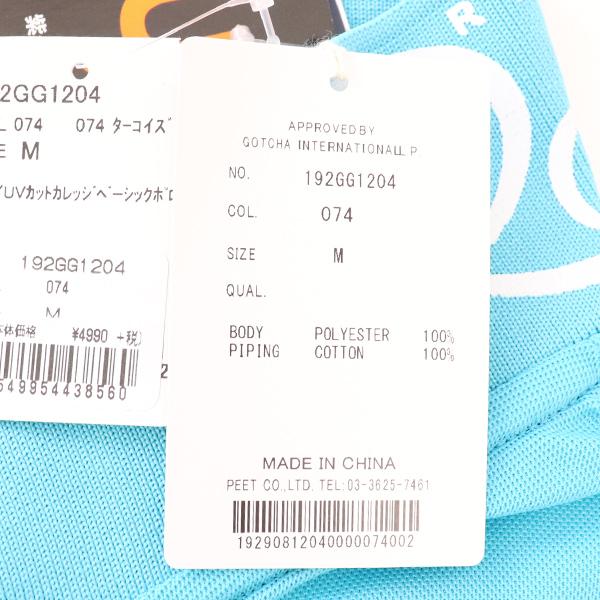 ★ランキング入賞★ガッチャゴルフ メンズ 2019年春夏モデル 半袖 シャツ ポロシャツ UVカット GOTCHA GOLF 【19】M L XL XXL ゴルフ 192gg1204