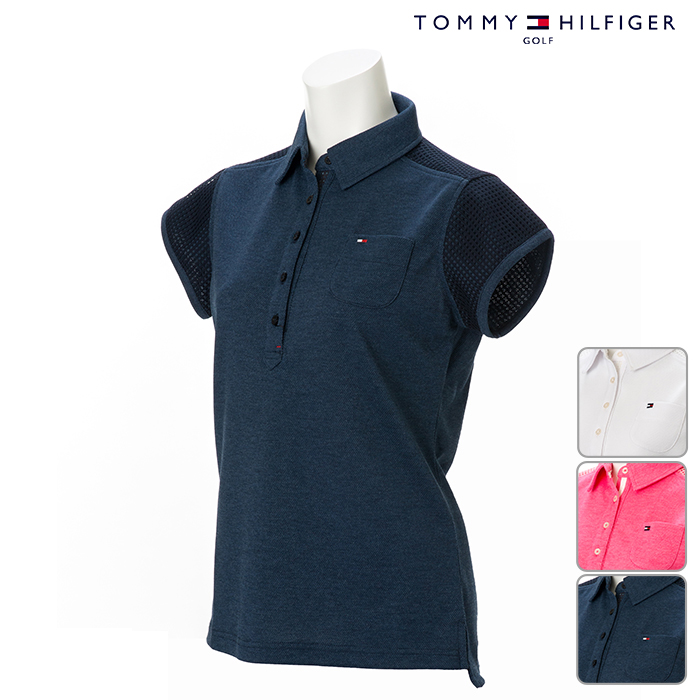 dcb4a9b0665 TOMMY HILFIGER- トミーヒルフィガー - LADYS- Lady s - LACE SHIRTS race short sleeves  polo shirt S