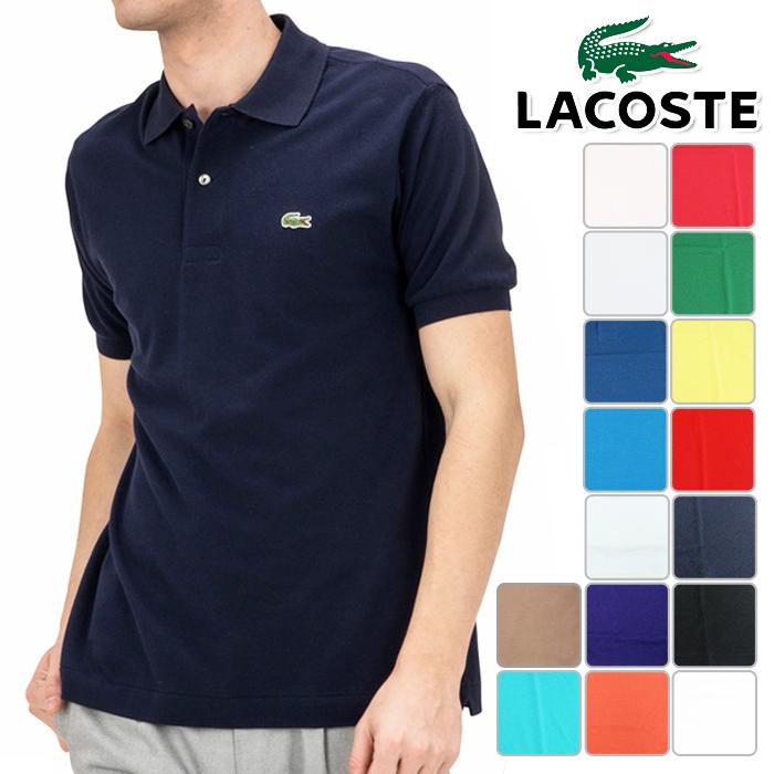 LACOSTE ラコステ 半袖 ポロシャツ メンズ 春夏 L1212AL春夏モデル 半袖ポロシャツ【18】トップス ウエア 2 3 4 5 サイズ ゴルフ用品