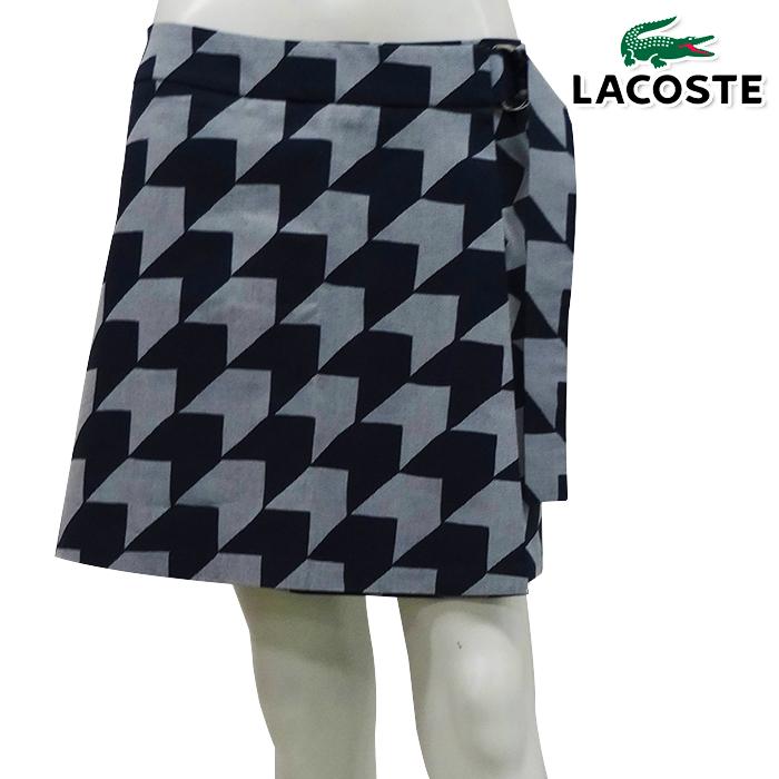 【スカート系】【JF2473】【春夏モデル】LACOSTE-ラコステ- LADYS (レディース) 『MADE IN FRANCE』 ギンガムプリント スカート 【17】【ボトムス】【ウエア】36,38,40サイズ【ゴルフ用品】