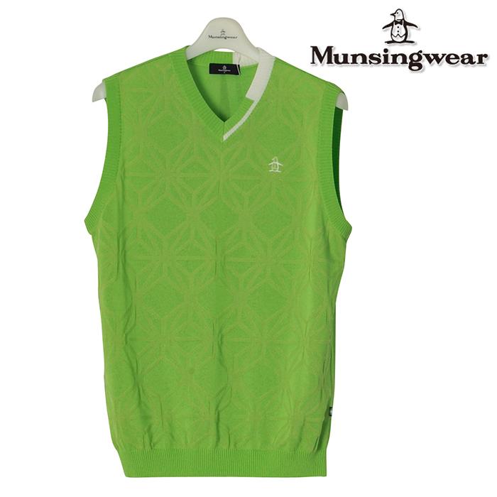 Munsingwear マンシングウエア ベスト メンズ 春夏 MGMLJL85春夏モデル ニット ベスト【18】トップス ウェア M L LL 3L サイズ ゴルフ用品