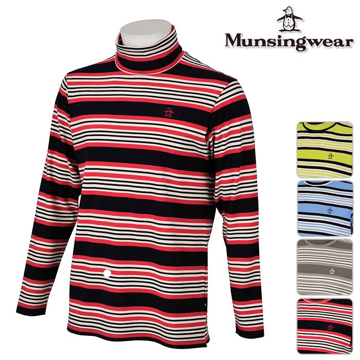 ◆Munsingwear マンシングウェア MENS メンズ 長袖 シャツ JWMK127 秋冬モデル 吸湿発熱 ストレッチ タートルネック【17】ゴルフウェア トップス ウエア M L LL 3L サイズ