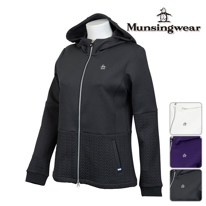 ◆Munsingwear マンシングウェア 長袖 シャツ LADYS レディース 秋冬 JWLK555 フルジップ ブルゾン 秋冬モデル【17】トップスゴルフウェア ウェア