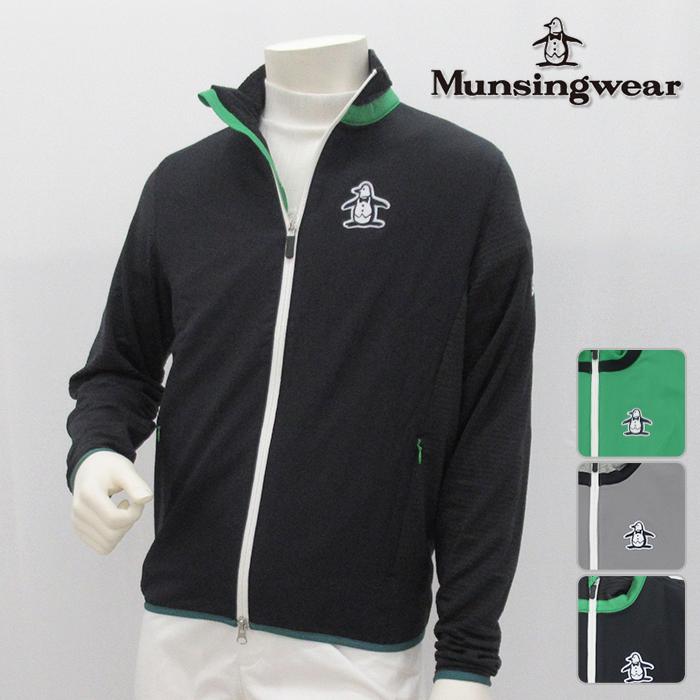 Munsingwear マンシングウエア カットソー メンズ 春夏 MGMLJL50 春夏モデル フルジップ スウェット【18】トップス ウエア M L LL 3Lサイズ ゴルフ用品