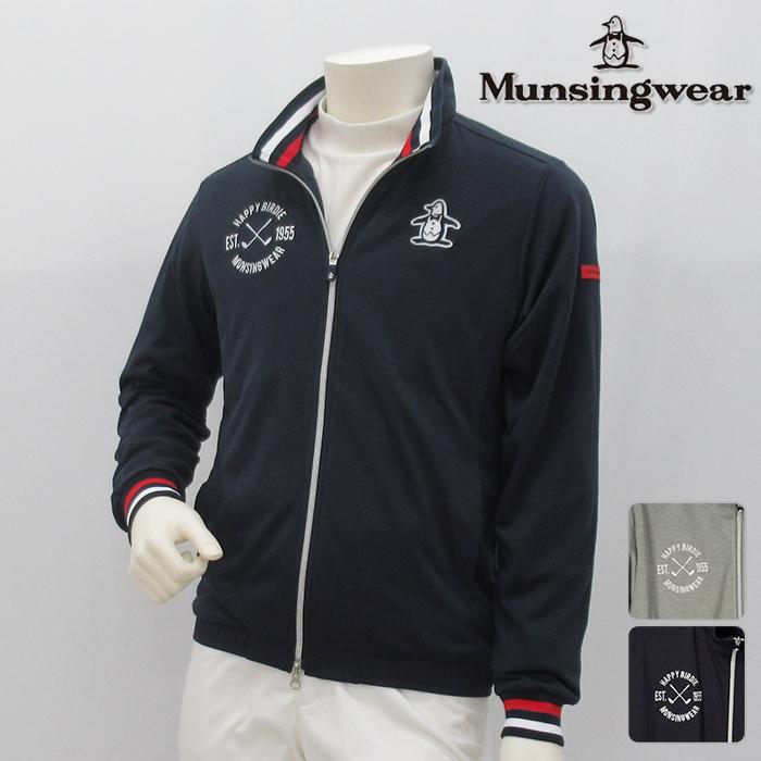 Munsingwear マンシングウエア カットソー MENS メンズ 春夏 MGMLJL53 春夏モデル フルジップ スウェット【18】トップス ウエア M L LL 3Lサイズ ゴルフ用品