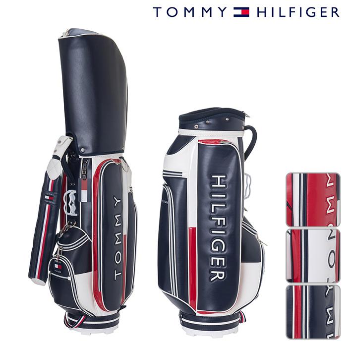 トミーヒルフィガー キャディーバッグ UNISEX ユニセックス THMG8FC5 【18】フラッグ アクセント キャディバッグ 9型 46インチ対応 ゴルフ用品