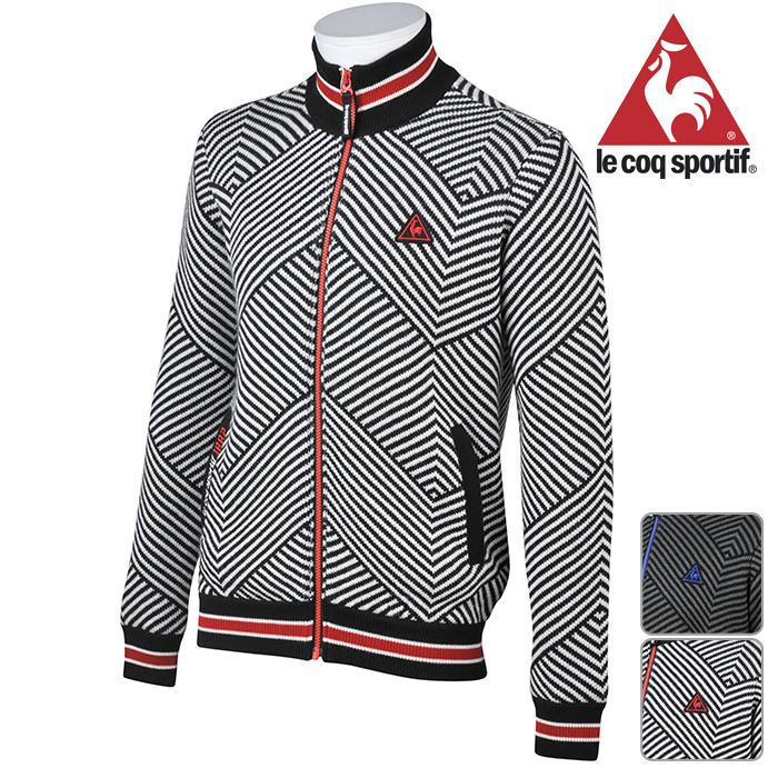 ルコック 長袖 セーター メンズ QGMMJK01 NEW秋冬モデル【18】 ニットブルゾン フルジップ M L LL サイズ