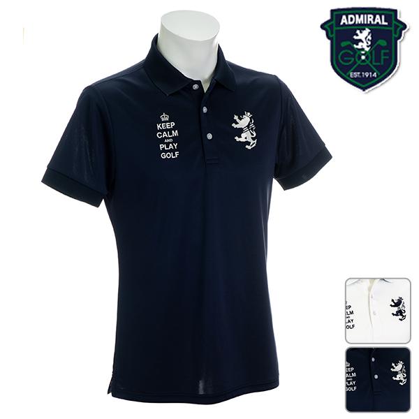 アドミラル メンズ 2019年春夏モデル 半袖 刺繍ロゴ ポロシャツ M L LL サイズ Admiral GOLF【19】ゴルフ adma924