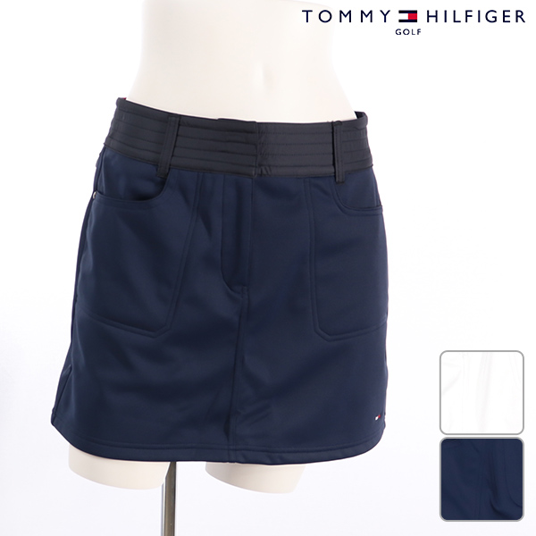 【30%OFF】TOMMY HILFIGERトミーヒルフィガー レディース スカート thla894秋冬モデル ボンディング スカート【18】ボトムス M L ゴルフウェア