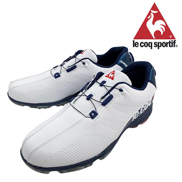 ルコック 2019年モデル メンズ ゴルフシューズ 靴 ヒールダイヤル式 WLS 防水 軽量 ホワイトブルー 3E 24.5cm~28.0cm le coq【19】ゴルフ qq2nja00