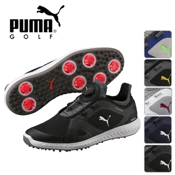 プーマゴルフ PUMA メンズ 2019年モデル ゴルフシューズ スパイク イグナイト パワーアダプト ディスク 25.0cm-29.0cm サイズ PUMA GOLF【19】190582