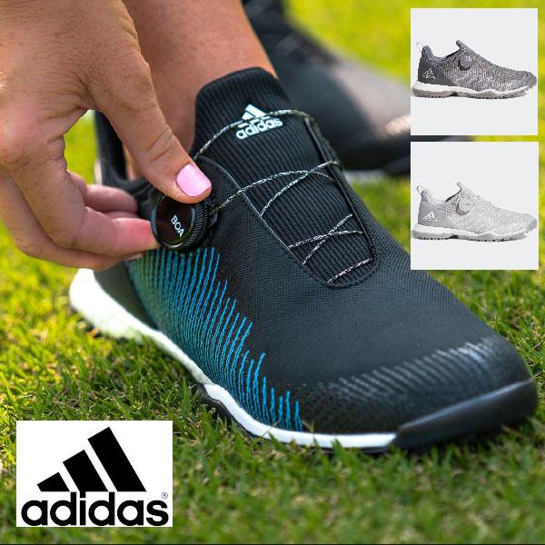【20%OFF】アディダスゴルフ レディース 2019年春夏モデル ゴルフシューズ フォージファイバー ボア adidas golf 【19】23.0-24.5cm ゴルフ btf19