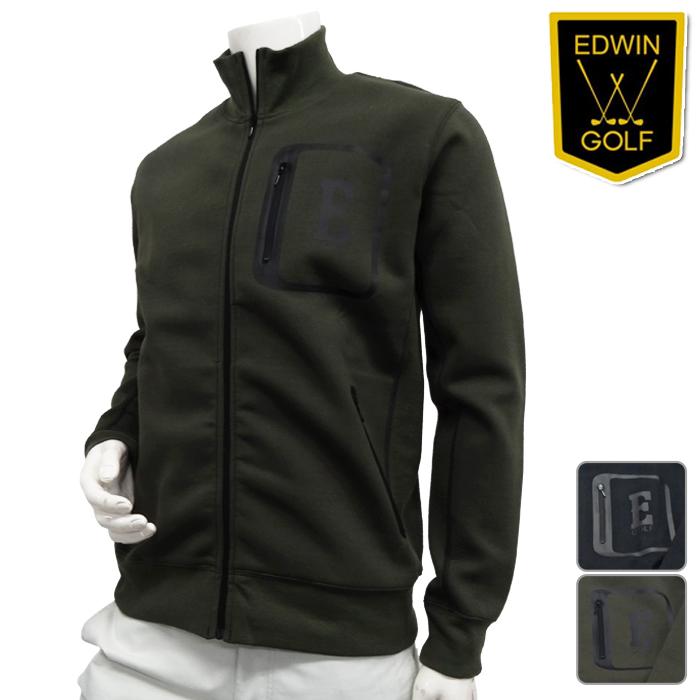 【KG9955】【秋冬モデル】EDWIN-エドウィン- MENS(メンズ) ジップアップ ジャケット【トップス】【ウエア】M,L,XLサイズ【ゴルフ用品】【16】