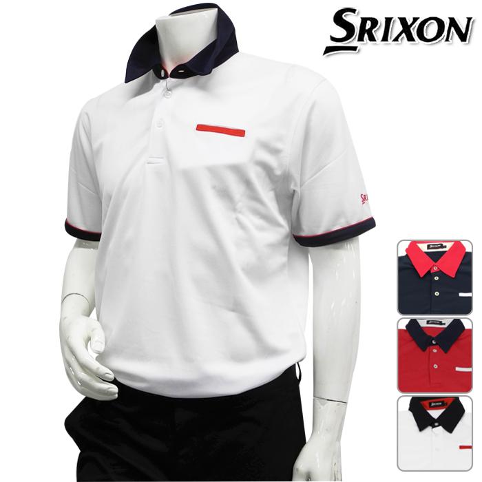 DUNLOP-邓禄普-SRIXON-surikuson-MENS(男子)短袖开领短袖衬衫M,L,LL尺寸
