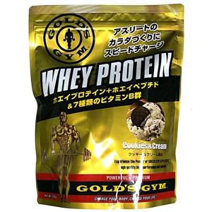 10%OFFクーポン対象 ゴールドジム ホエイプロテイン クッキー&クリーム風味 1,500g F5815