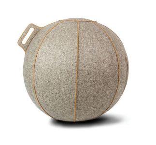 グレージュ/ブラウンライン 55cm バランスボール VLUV ヴィーラヴ スーパープレミアム ファブリックシーティングボール SBV001.55GB1