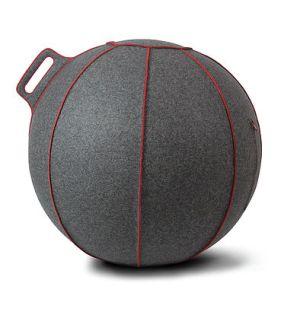 ヴィーラヴ バランスボール グレー レッド ライン 55cm VLUV スーパープレミアム ファブリックシーティングボール 赤 SBV001.55GR1