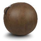 お取り寄せ対応品。カバーで覆ったバランスボール。 ヴィーラヴ バランスボール コニャック 65cm VLUV プレミアム ファブリックシーティングボール SBV003.65CO1