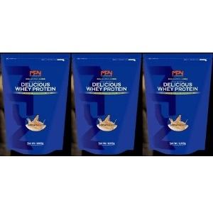 【 送料無料 】 3個セット 3kg分 バニラチョコレート風味 デリシャスホエイプロテイン MPN ボディフィット
