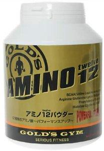 ゴールドジム アミノ12パウダー 500g F4350 送料無料 EAA 必須アミノ酸 BCAA アルギニン オルニチン 速攻吸収 疲労回復 超回復 筋肉合成 分解抑制 アナボリック アンチカタボリック AminoAcidPowder GoldGym