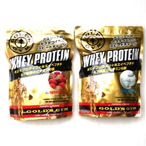 10%OFFクーポン対象 【送料無料】ゴールドジム ホエイ プロテイン ホエイプロテイン ストロベリー ヨーグルト 720g セット 高たんぱく 飲みやすい 食間 食後 運動後