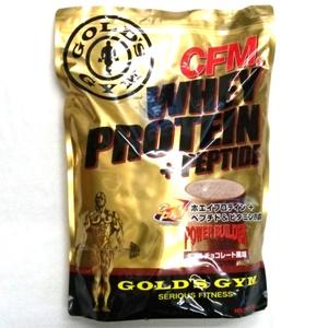 ゴールドジム ホエイプロテイン+ペプチド&ビタミンB ダブルチョコレート風味 2kg F3520