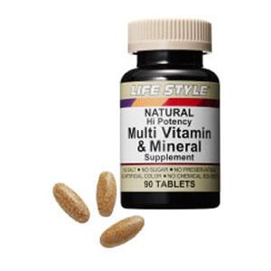 【送料無料】3個セット マルチビタミン&ミネラル ライフスタイル LifeStyle