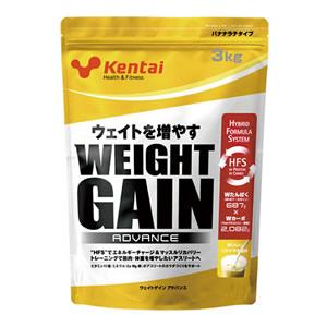 ウエイトゲインアドバンス バナナ 健康体力研究所 kentai ケンタイ バナナラテ風味 3kg K3321