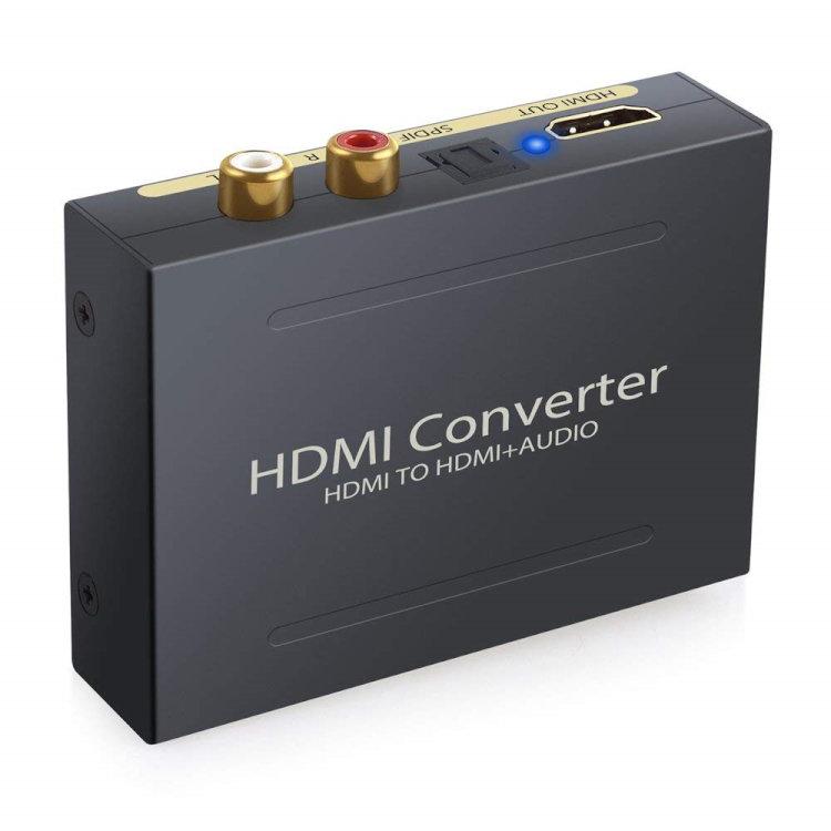 HDMI→HDMI + 光デジタル SPDIF +Audio 直輸入品激安 HDMIから音声信号分離 HDMIデジタルオーディオ分離器 HDMI 分離器 訳あり商品 送料無料 出力 オーディオ RCA 1080P対応 JL-HDMI2AUD