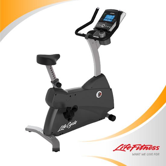 ライフサイクル アップライトバイク・Uplight BikeC3 GOコンソール[サイクルトレーニング][ランニング][ウォーキング][サイクリング][大腿筋トレーニング][エクササイズ]