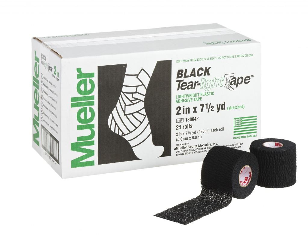 Mueller ミューラー ソフト伸縮テーピング・カラータイプ「ブラック」ティアライト ブラック 51mm (24本セット)130642