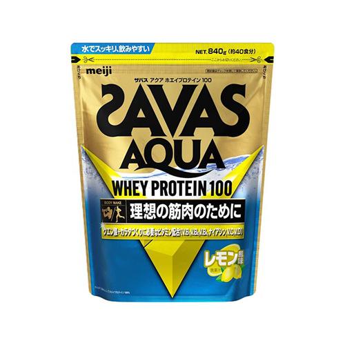 理想の筋肉のために 送料無料 セール特別価格 SAVAS ザバス 商い アクア ホエイプロテイン100 約40食分 840g レモン風味