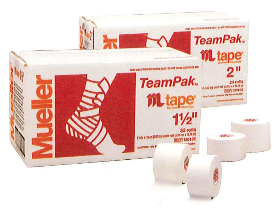 Mueller ミューラー 粘着性・非伸縮コットンテープホワイトプロテープ 51mm(24本セット)130106MJ