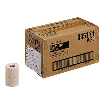 ジョンソン&ジョンソンエラスティコン(ELASTIKON)伸縮性粘着テープ・ハードタイプ 75mm(16本入り)