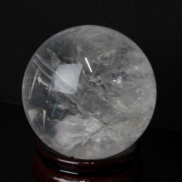 【大きい 55mm】 水晶玉 天然|クリスタル 水晶 Crystal クォーツ すいしょう Quartz【Ball 原石 Gemstone ball 丸玉 Circle 球体 置物 大玉 ルース】メンズ レディース パワーストーン 天然石 海外直輸入価格 水晶玉