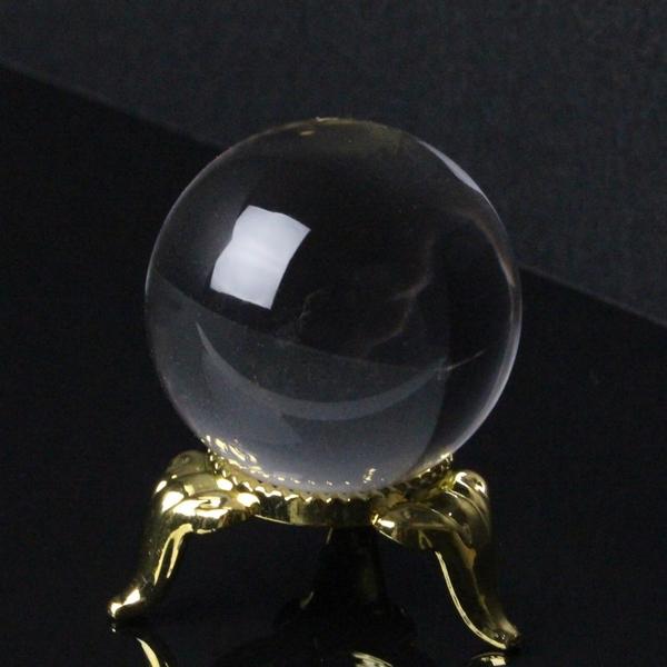 【完全透明 34mm】 天然 水晶玉|クリスタル 水晶 Crystal クォーツ Quartz【Ball 原石 Gemstone ball 丸玉 Circle 球体 置物 ルース】メンズ レディース パワーストーン 天然石 海外直輸入価格 水晶玉