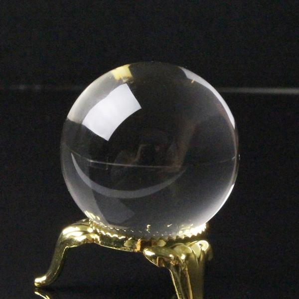【完全透明 35mm】 天然 水晶玉|水晶 Crystal クリスタル クォーツ すいしょう Quartz【丸玉 Circle Ball 原石 Gemstone Crystal ball 球体 置物 ルース】メンズ レディース 一点物アイテム 水晶玉