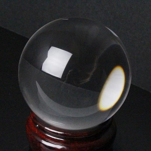 【完全透明 55mm】 天然 水晶玉|クリスタル 水晶 Crystal クォーツ Quartz【原石 Gemstone 水晶玉 丸玉 Ball Crystal ball 球体 置物 大玉 ルース】メンズ レディース 一点物アイテム 水晶玉