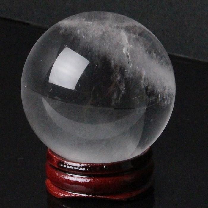 【49mm】水晶 天然 丸玉 クリスタル クォーツ Crystal Quartz 水晶【丸玉 Circle Ball 原石 Gemstone 水晶玉 Crystal ball Sphere 球体】メンズ レディース 一点物 パワーストーン 水晶 天然