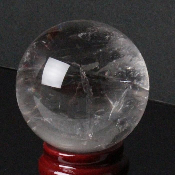 【61mm】天然 水晶玉|Crystal クリスタル クォーツ Quartz 水晶【丸玉 Circle Ball 原石 Gemstone 水晶玉 Crystal ball Sphere 球体 置物 大玉】メンズ Men's レディース Ladies 天然石 海外直輸入価格 天然