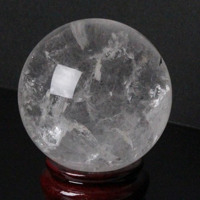 【65mm】天然 水晶玉|クリスタル クォーツ Crystal Quartz 水晶【丸玉 Circle Ball 原石 Gemstone 水晶玉 Crystal ball Sphere 球体 置物 大玉】メンズ レディース 限定 一点物 パワーストーン 天然