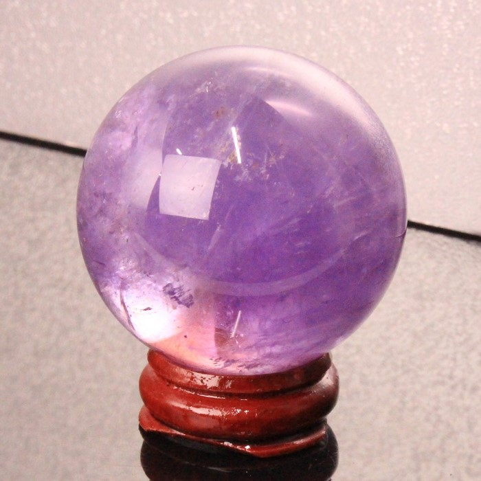 【46mm】アメジスト 丸玉|Amethyst 紫水晶 アメシスト アメジスト【水晶玉 Sphere 原石 球体 置物 ルース Gemstone Circle Ball】メンズ レディース パワーストーン 天然石 海外直輸入価格 アメジスト