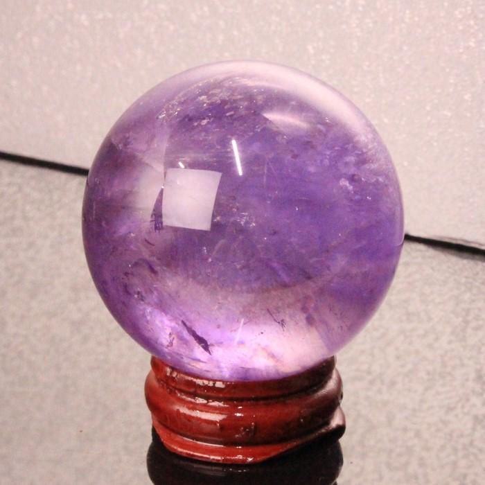 【46mm】アメジスト 丸玉|アメシスト Amethyst 紫水晶 アメジスト【原石 球体 置物 水晶玉 Crystal ball ルース Gemstone Circle Ball】メンズ Men's レディース 天然石 限定 一点物 アメジスト